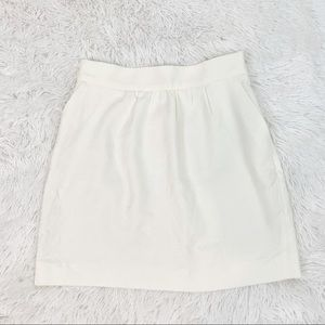Mango women's textured white mini skirt